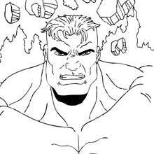 Coloriage de Hulk vainqueur - Coloriage - Coloriage SUPER HEROS - Coloriage de HULK - Coloriage HULK GRATUIT