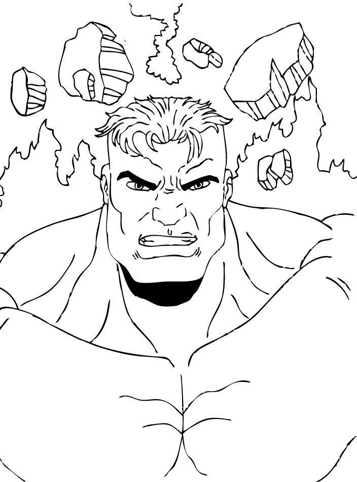 Coloriages coloriage de hulk vainqueur - Coloriage de hulk ...