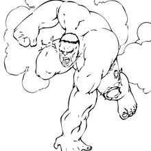 Coloriage de Hulk très en colère