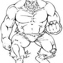 Coloriage du poing de Hulk