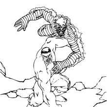 Coloriage de Hulk soulevant l'Abomination - Coloriage - Coloriage SUPER HEROS - Coloriage de HULK - Coloriage ABOMINATION