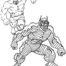 Coloriage de Hulk contre l'Abomination