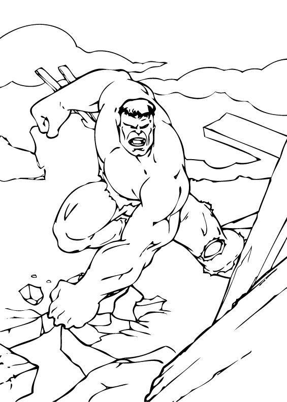 Coloriages coloriage de la destruction de hulk fr - Coloriage de hulk ...