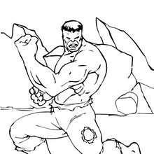 Coloriage des biceps de Hulk - Coloriage - Coloriage SUPER HEROS - Coloriage de HULK - Coloriage HULK A IMPRIMER