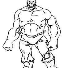 Coloriage de l'incroyable Hulk