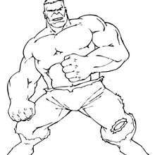 Coloriage de Hulk - Coloriage - Coloriage SUPER HEROS - Coloriage de HULK - Coloriage HULK A IMPRIMER