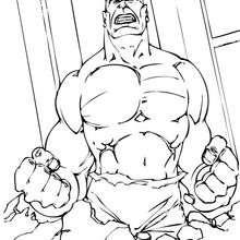Coloriage de Hulk hors de lui - Coloriage - Coloriage SUPER HEROS - Coloriage de HULK - Coloriages HULK