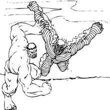Coloriage : Hulk et l'Abomination