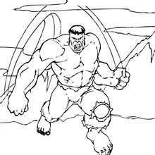 Coloriage de la fureur de Hulk - Coloriage - Coloriage SUPER HEROS - Coloriage de HULK - Coloriages HULK