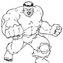 Coloriage des poings de Hulk