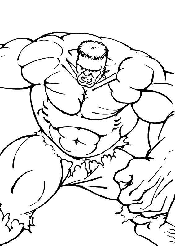 Coloriages coloriage de hulk et ses muscles - Hulk a imprimer ...