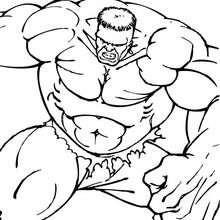 Coloriage de Hulk et ses muscles - Coloriage - Coloriage SUPER HEROS - Coloriage de HULK - Coloriages HULK