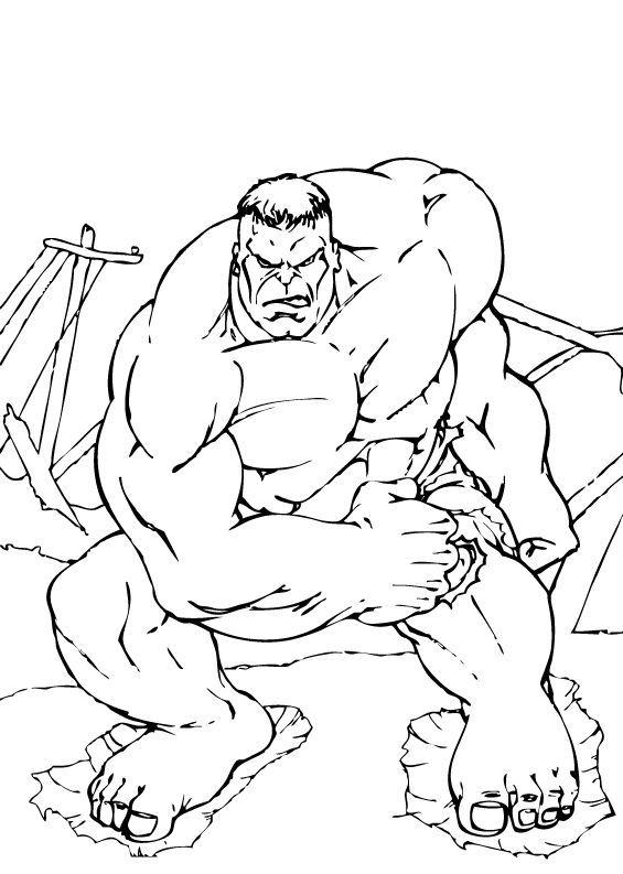 Coloriages hulk est lourd - Dessin de hulk a imprimer ...