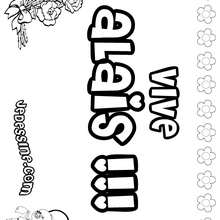 Alaïs - Coloriage - Coloriage PRENOMS - Coloriage PRENOMS LETTRE A