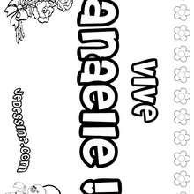 Anaelle - Coloriage - Coloriage PRENOMS - Coloriage PRENOMS LETTRE A