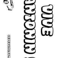 Antonin - Coloriage - Coloriage PRENOMS - Coloriage PRENOMS LETTRE A