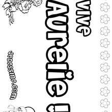 Aurélie - Coloriage - Coloriage PRENOMS - Coloriage PRENOMS LETTRE A