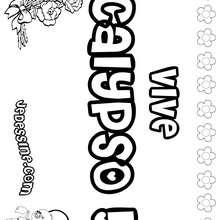 Calypso - Coloriage - Coloriage PRENOMS - Coloriage PRENOMS LETTRE C