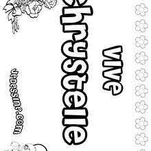 Chrystelle - Coloriage - Coloriage PRENOMS - Coloriage PRENOMS LETTRE C