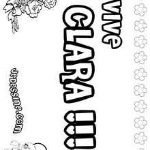 Clara - Coloriage - Coloriage PRENOMS - Coloriage PRENOMS LETTRE C