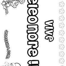 Eleonore - Coloriage - Coloriage PRENOMS - Coloriage PRENOMS LETTRE E