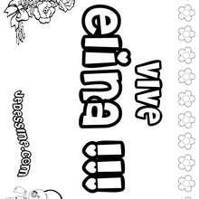 Elina - Coloriage - Coloriage PRENOMS - Coloriage PRENOMS LETTRE E