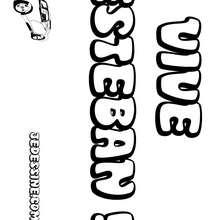 Esteban - Coloriage - Coloriage PRENOMS - Coloriage PRENOMS LETTRE E