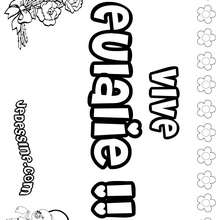 Eulalie - Coloriage - Coloriage PRENOMS - Coloriage PRENOMS LETTRE E