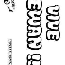 Ewan - Coloriage - Coloriage PRENOMS - Coloriage PRENOMS LETTRE E