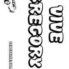 Gregory - Coloriage - Coloriage PRENOMS - Coloriage PRENOMS LETTRE G