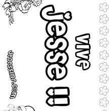 Jesse (fille) - Coloriage - Coloriage PRENOMS - Coloriage PRENOMS LETTRE J