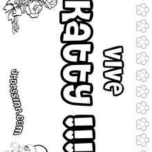 Katty - Coloriage - Coloriage PRENOMS - Coloriage PRENOMS LETTRE K