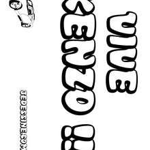 Kenzo - Coloriage - Coloriage PRENOMS - Coloriage PRENOMS LETTRE K