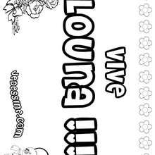 Louna - Coloriage - Coloriage PRENOMS - Coloriage PRENOMS LETTRE L