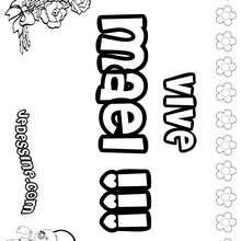 Maël (fille) - Coloriage - Coloriage PRENOMS - Coloriage PRENOMS LETTRE M