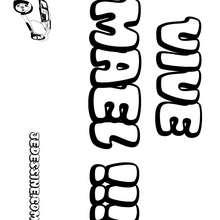 Maël (garçon) - Coloriage - Coloriage PRENOMS - Coloriage PRENOMS LETTRE M