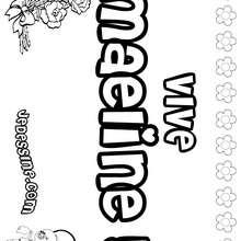 Maeline - Coloriage - Coloriage PRENOMS - Coloriage PRENOMS LETTRE M