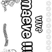Maeve - Coloriage - Coloriage PRENOMS - Coloriage PRENOMS LETTRE M