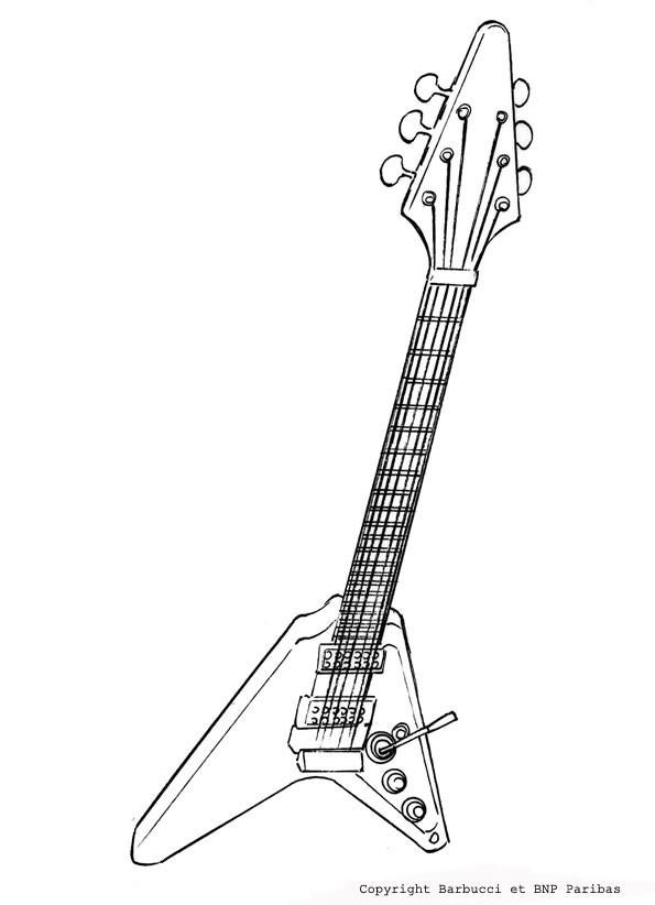 coloriage dune guitare lectrique