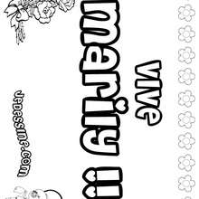 Marily - Coloriage - Coloriage PRENOMS - Coloriage PRENOMS LETTRE M