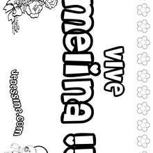 Melina - Coloriage - Coloriage PRENOMS - Coloriage PRENOMS LETTRE M