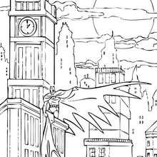 Coloriage : Batman au pendule
