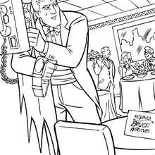 Coloriage : Batman au restaurant