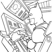 Coloriage : Batman aux commandes