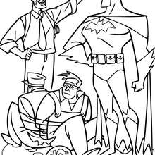 Coloriage : Batman capture des brigands
