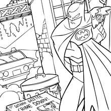 Coloriage : Batman contre le crime