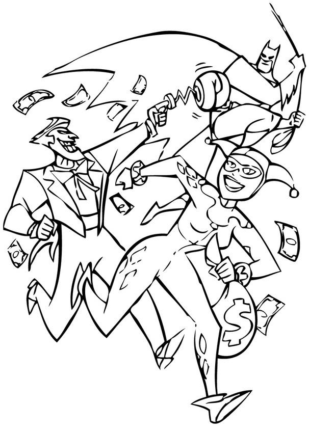Coloriages batman contre le joker et harley quinn fr - Batman contre joker ...