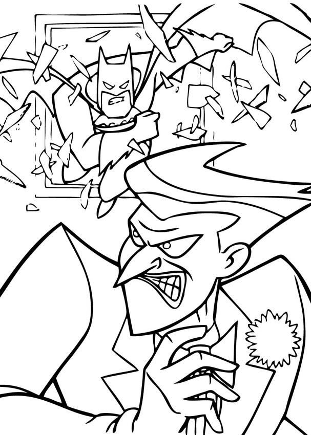 Coloriages batman contre le joker - Le joker dessin ...