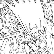 Coloriage : Batman dans les egouts