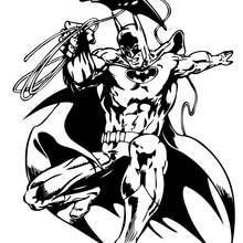 Coloriage : Batman en saut